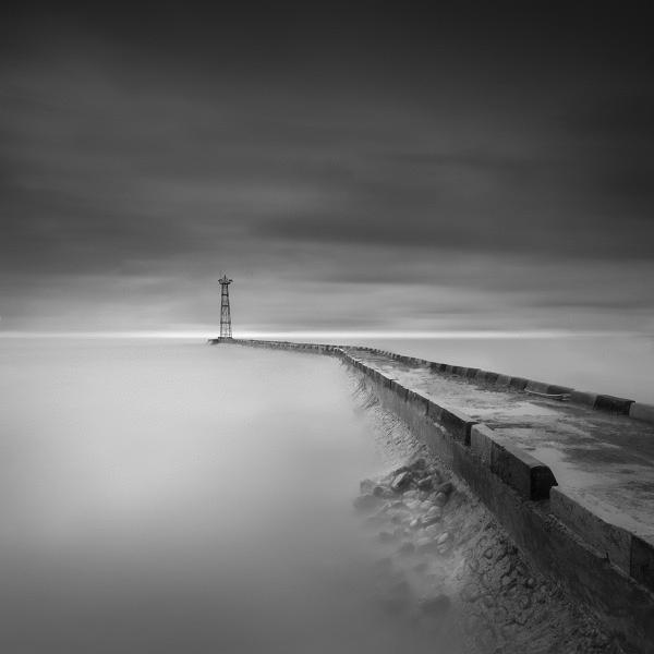 foto long exopsure landscape keren hitam putih