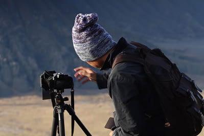 memaksimalkan komposisi foto landscape