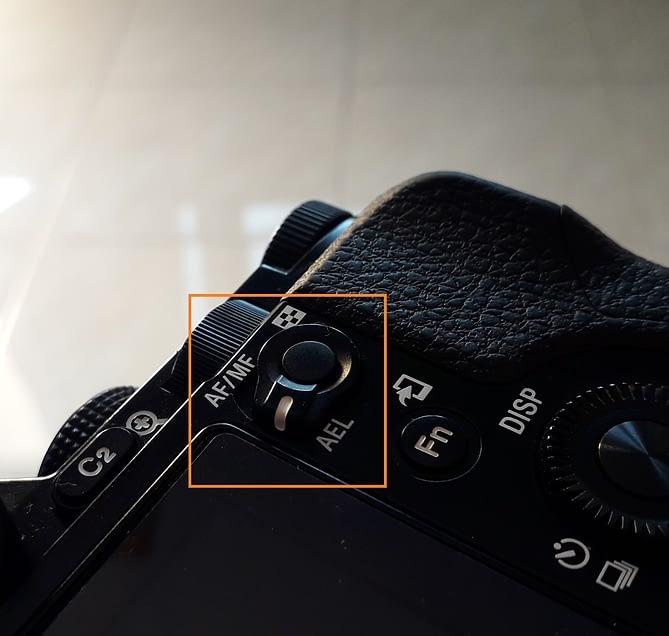 tombol ael auto exposure lock kamera sony