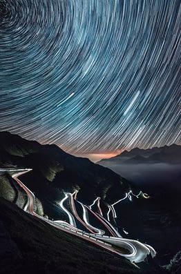 foto landscape star trail keren