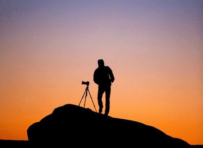 fotografer landscape siluet keren menunggu moment