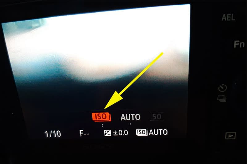 setting iso multi frame noise reduction sony a7